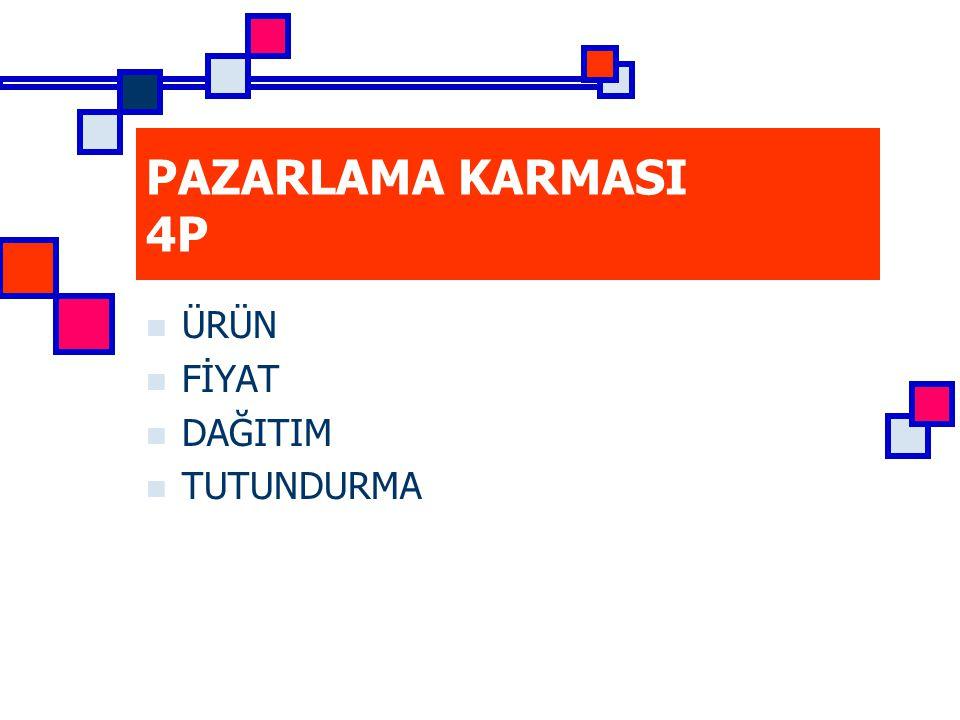 PAZARLAMA KARMASI 4P ÜRÜN FİYAT DAĞITIM TUTUNDURMA