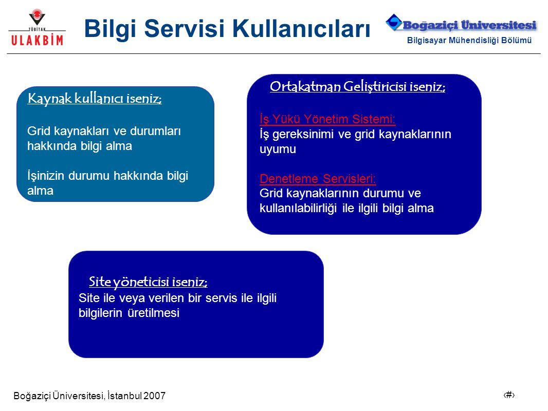 Boğaziçi Üniversitesi, İstanbul 2007 4 Bilgisayar Mühendisliği Bölümü Bilgi Servisi Kullanıcıları Ortakatman Geli ş tiricisi iseniz; İş Yükü Yönetim S