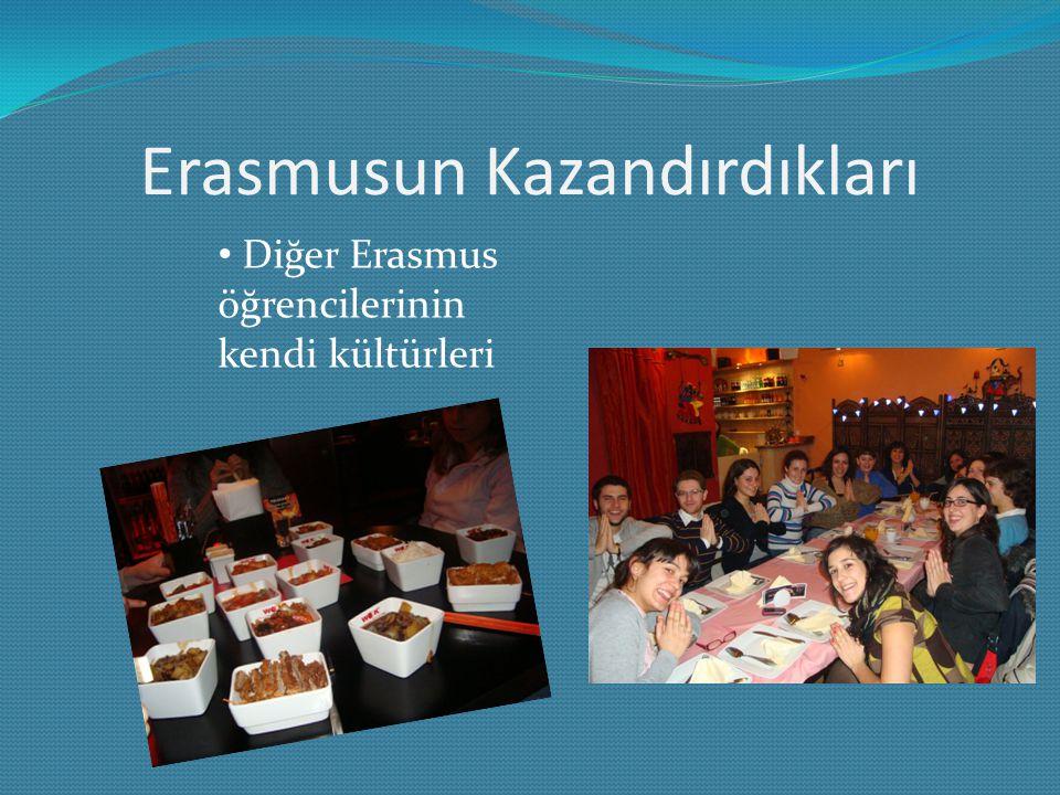Erasmusun Kazandırdıkları Diğer Erasmus öğrencilerinin kendi kültürleri