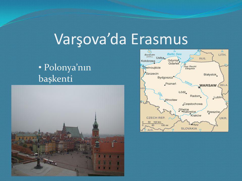 Varşova'da Erasmus Polonya'nın başkenti