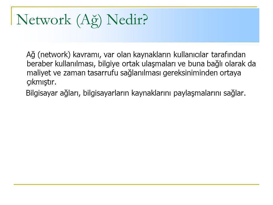 Network (Ağ) Nedir.