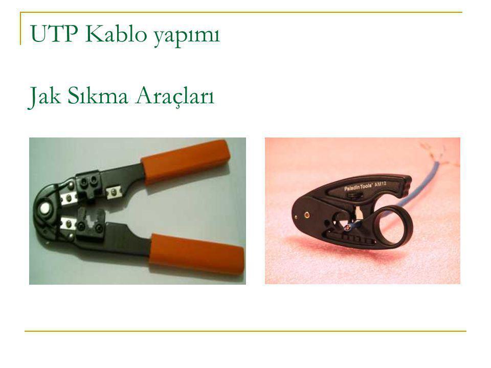 UTP Kablo yapımı Jak Sıkma Araçları