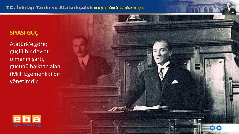 T.C.İnkılap Tarihi ve Atatürkçülük HER ŞEY GÜÇLÜ BİR TÜRKİYE İÇİN 7 SİYASİ GÜÇ TBMM açıldı.