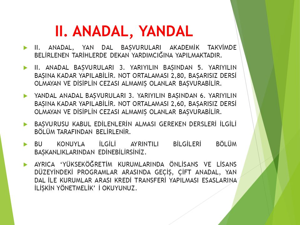II.ANADAL, YANDAL  II.
