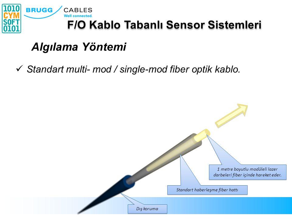 Standart haberleşme fiber hattı Dış koruma Standart multi- mod / single-mod fiber optik kablo. Kabloya ulaşan her titreşim kablo tarafından algılanır.