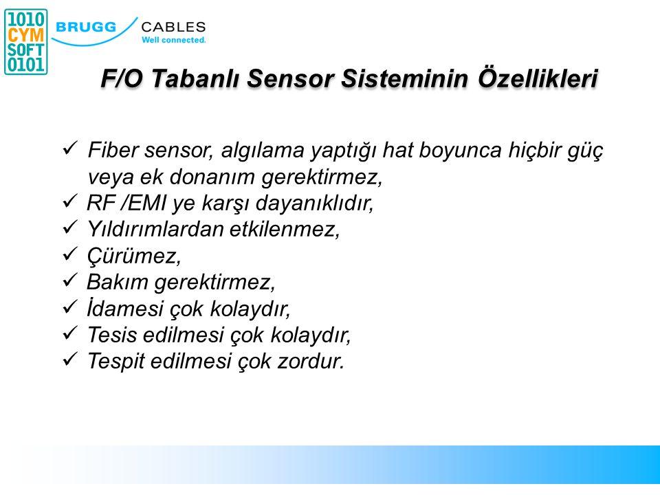 Fiber sensor, algılama yaptığı hat boyunca hiçbir güç veya ek donanım gerektirmez, RF /EMI ye karşı dayanıklıdır, Yıldırımlardan etkilenmez, Çürümez,