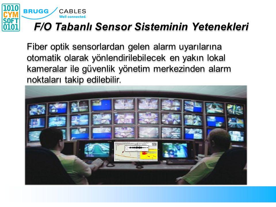 Fiber optik sensorlardan gelen alarm uyarılarına otomatik olarak yönlendirilebilecek en yakın lokal kameralar ile güvenlik yönetim merkezinden alarm n