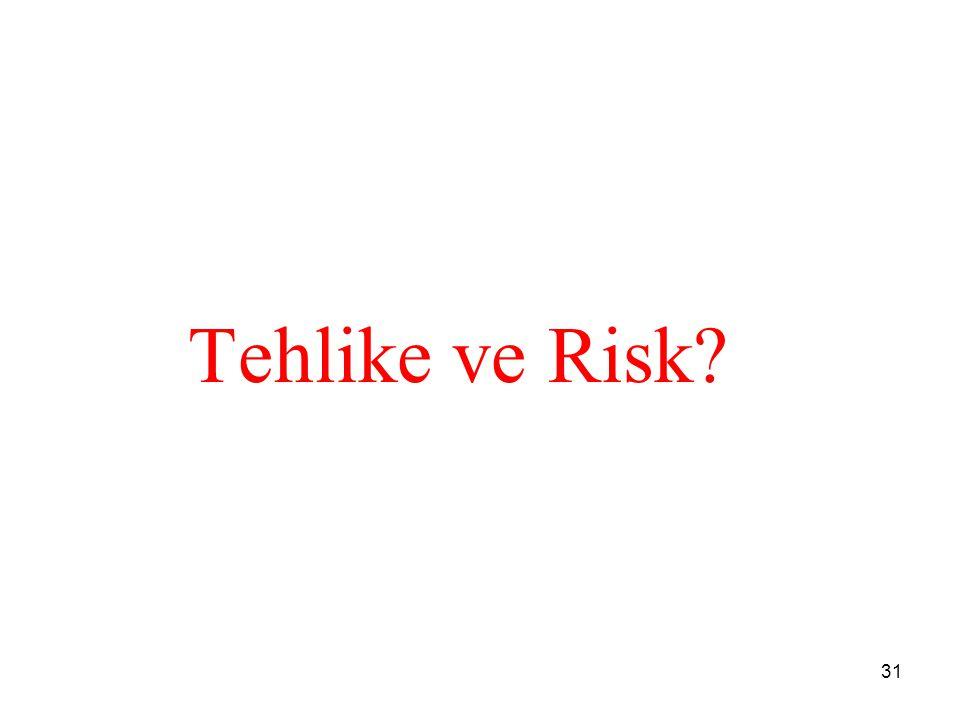 Tehlike ve Risk? 31