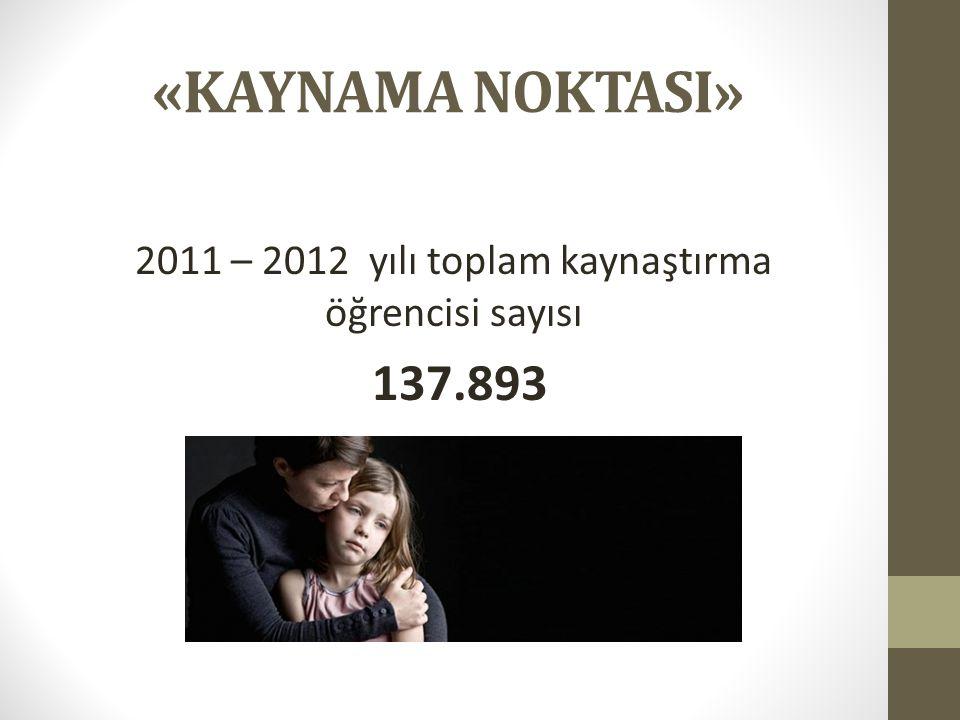 «KAYNAMA NOKTASI» 2011 – 2012 yılı toplam kaynaştırma öğrencisi sayısı 137.893