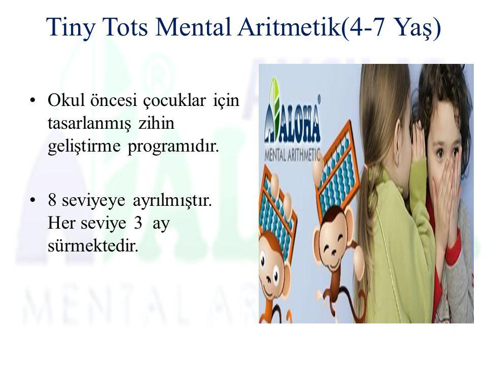 Tiny Tots Mental Aritmetik(4-7 Yaş) Okul öncesi çocuklar için tasarlanmış zihin geliştirme programıdır.