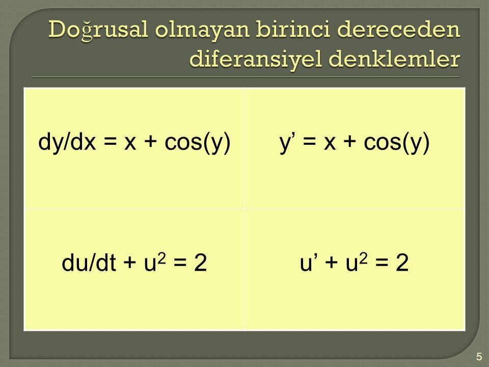 d 2 y/dx 2 – dy/dx = xy y''= -2y + 0.1y' 6