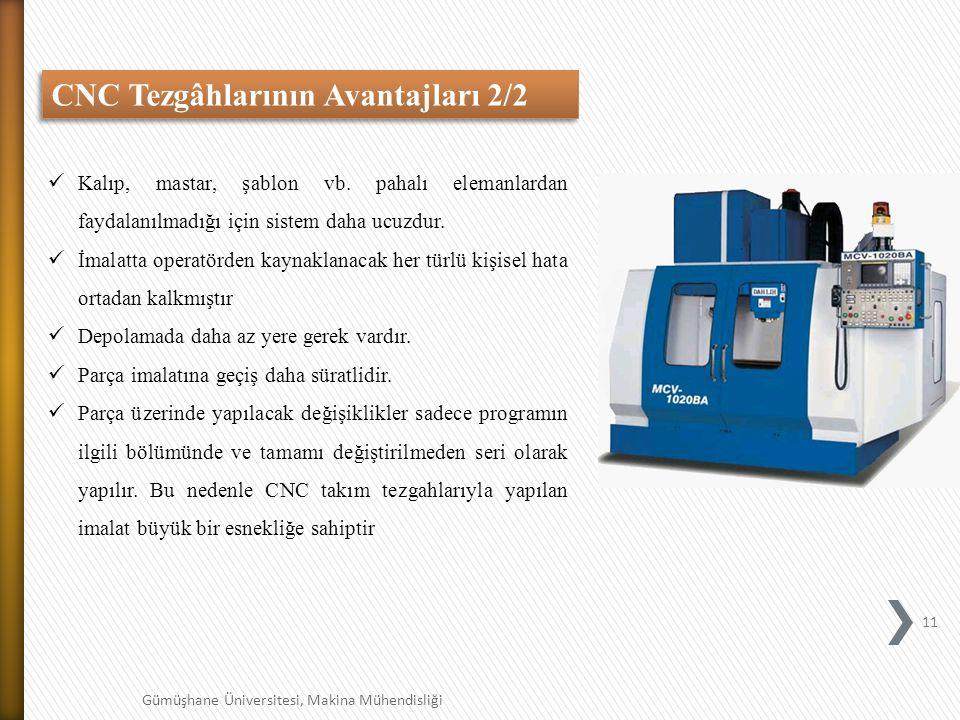 11 Gümüşhane Üniversitesi, Makina Mühendisliği Kalıp, mastar, şablon vb.