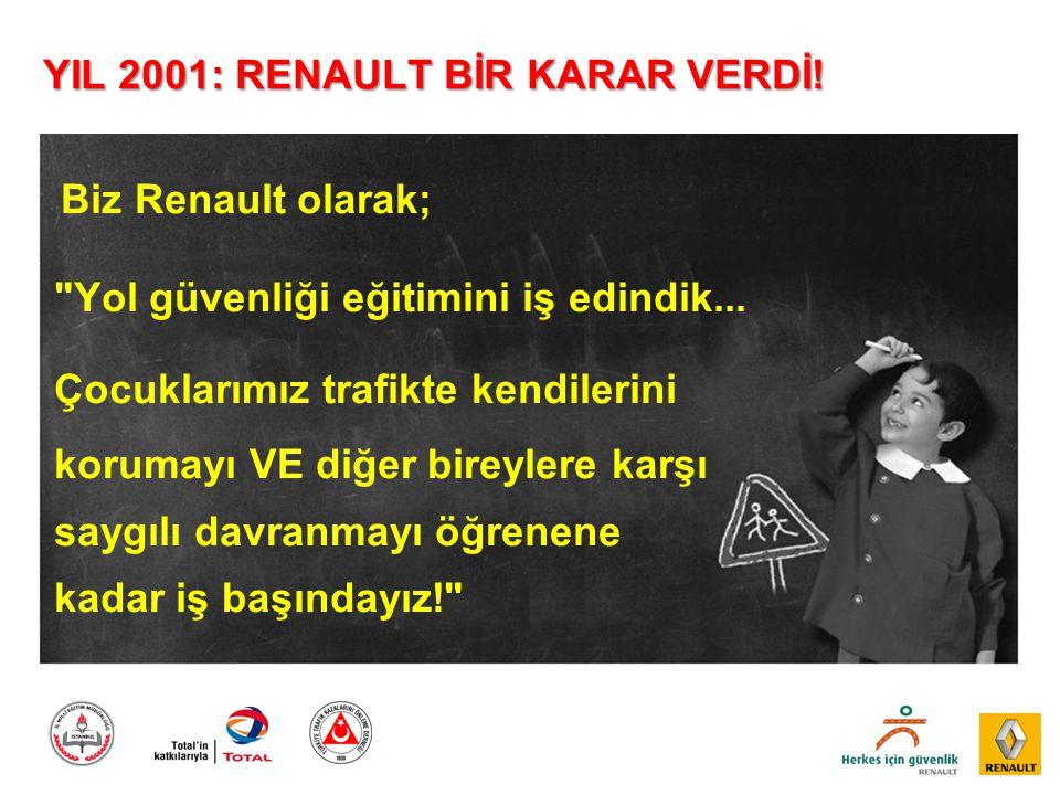 YIL 2001: RENAULT BİR KARAR VERDİ! Biz Renault olarak;