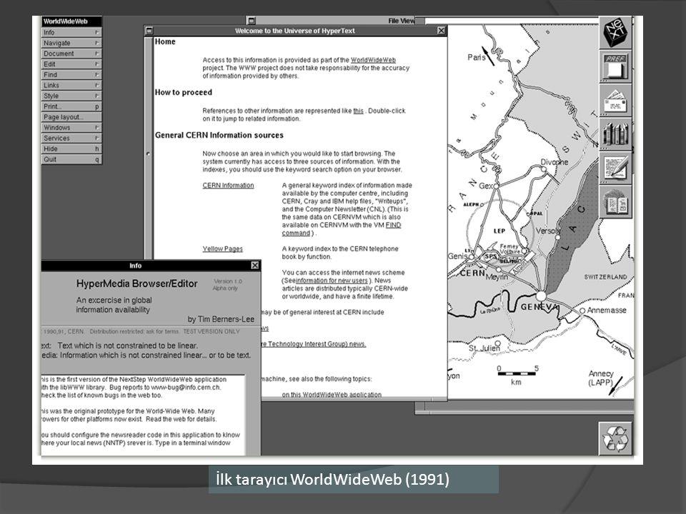 İlk tarayıcı WorldWideWeb (1991)