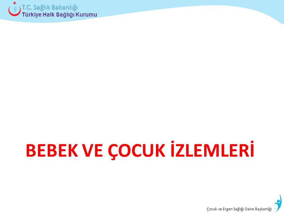 İstatistik ve Bilgi İşlem Daire Başkanlığı Türkiye Halk Sağlığı Kurumu T.C. Sağlık Bakanlığı Çocuk ve Ergen Sağlığı Daire Başkanlığı BEBEK VE ÇOCUK İZ