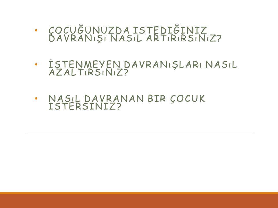 ÇOCUKLARDA DAVRANIŞ YÖNETİMİ FERHAT BAYOĞLU Uzm.Psk.Danışman