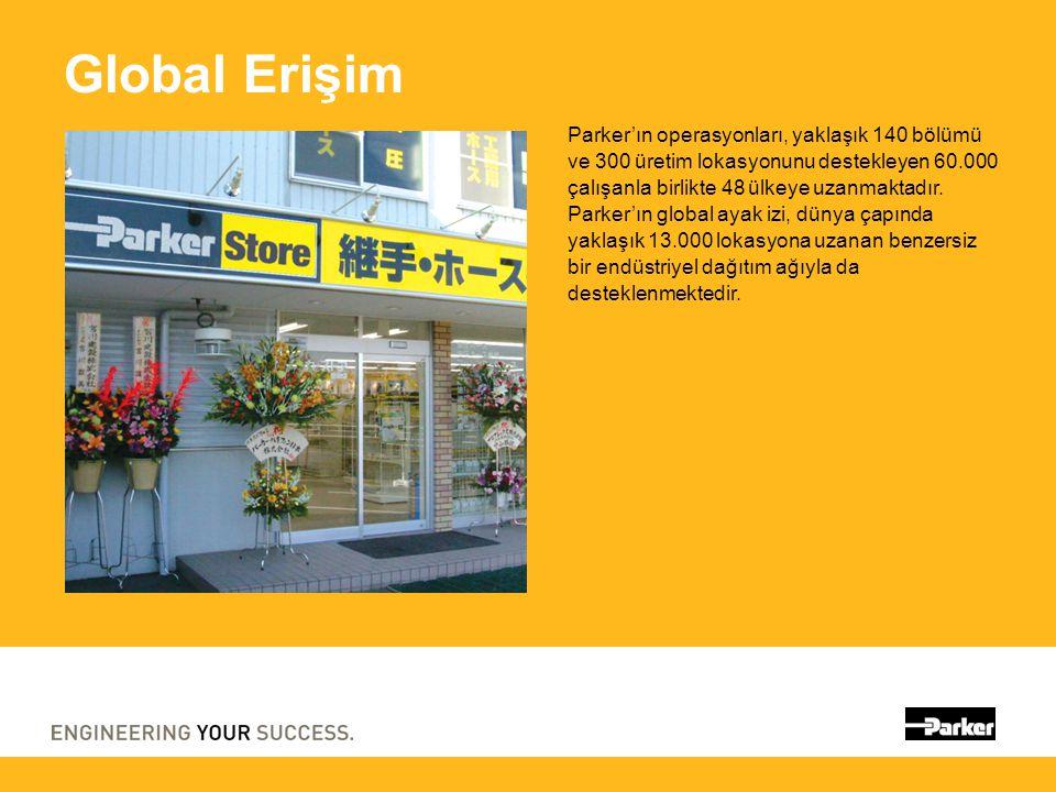 Global Erişim Parker'ın operasyonları, yaklaşık 140 bölümü ve 300 üretim lokasyonunu destekleyen 60.000 çalışanla birlikte 48 ülkeye uzanmaktadır. Par