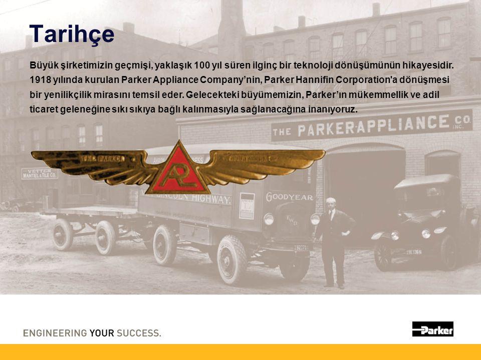 Tarihçe Büyük şirketimizin geçmişi, yaklaşık 100 yıl süren ilginç bir teknoloji dönüşümünün hikayesidir. 1918 yılında kurulan Parker Appliance Company