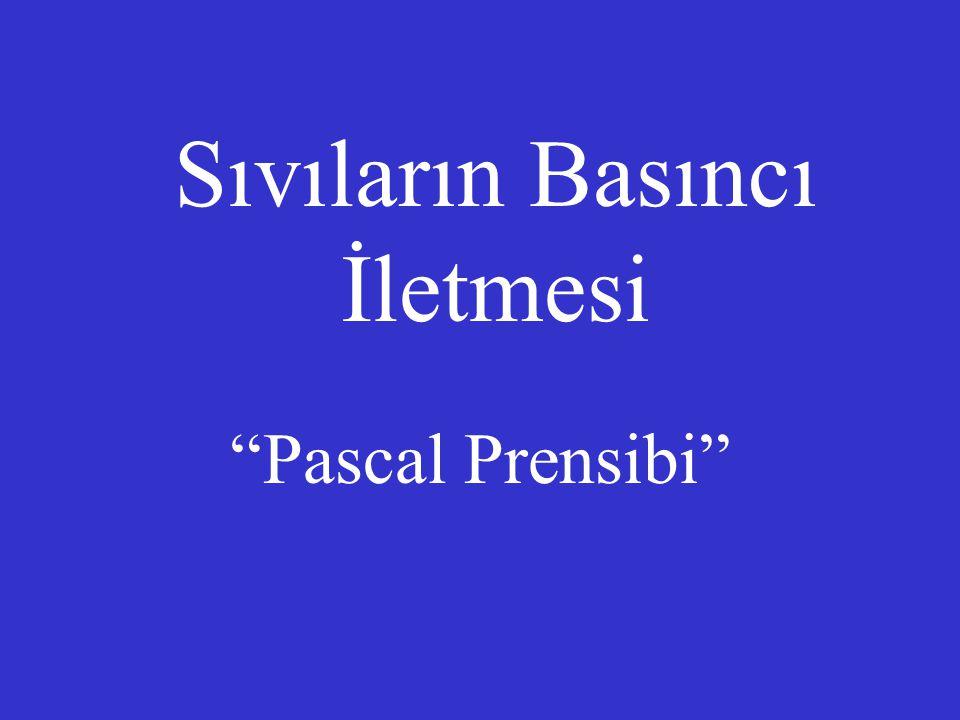 """Sıvıların Basıncı İletmesi """"Pascal Prensibi"""""""
