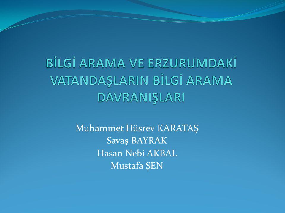 Muhammet Hüsrev KARATAŞ Savaş BAYRAK Hasan Nebi AKBAL Mustafa ŞEN