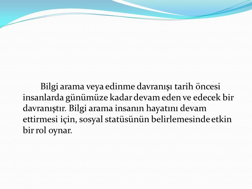 Bu bağlamda araştırmanın konusu Erzurum'daki vatandaşların bilgi arama davranışlarının incelenmesidir.