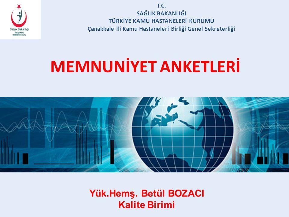 MEMNUNİYET ANKETLERİ T.C.