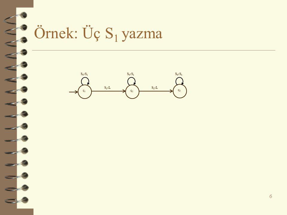 Örnek: 1'lerin sayısını ikiye katlama 7 q1q1 q2q2 q3q3 q4q4 q5q5 q6q6 q7q7 q8q8 q9q9 q 10 q 11 q 12 1:L 0:L 0:1 1:L 0:1 1:R 1:0 1:R0:R 0:L 1:L 0:R 1:L 0:R 1:L 0:L