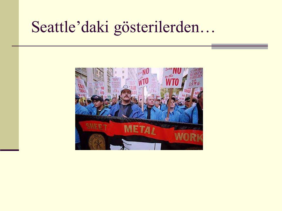 Seattle'daki gösterilerden…