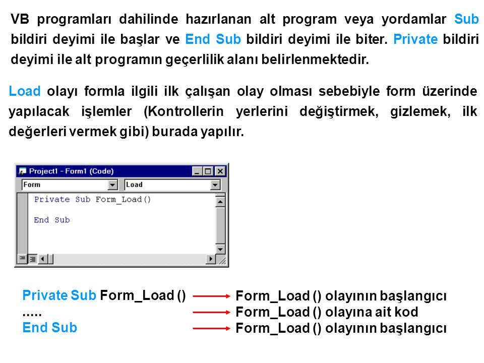 Proje çalıştırıldığında Form1 üzerine DEÜ Makina Müh.