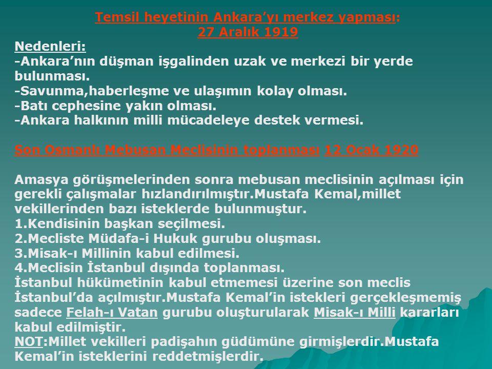 Amasya Görüşmeleri (20-22 Ekim 1919) Yeni hükümetin Bahriye nazırı Salih Paşa ile temsil heyeti arasında Amasya'da görüşmeler yapıldı.