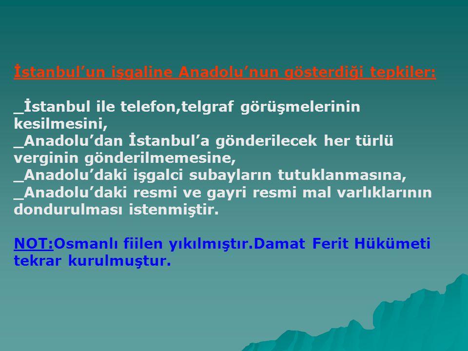 Misak-ı Milli(Milli Sınırlar 28 Ocak 1920) _Mondros Ateşkes Antlaşması imzalandığı sırada Osmanlı Devletinin düşman işgali altında kalmayan toprakları bölünmez bir bütündür.