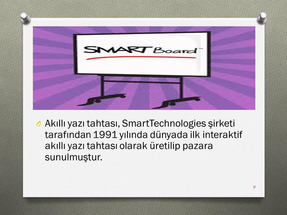 O Akıllı yazı tahtası, SmartTechnologies şirketi tarafından 1991 yılında dünyada ilk interaktif akıllı yazı tahtası olarak üretilip pazara sunulmuştur