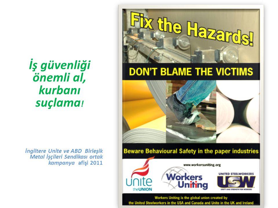 İş güvenliği önemli al, kurbanı suçlama .
