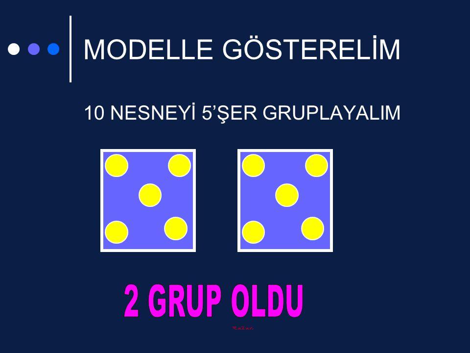 Ruzun MODELLE GÖSTERELİM 10 NESNEYİ 5'ŞER GRUPLAYALIM