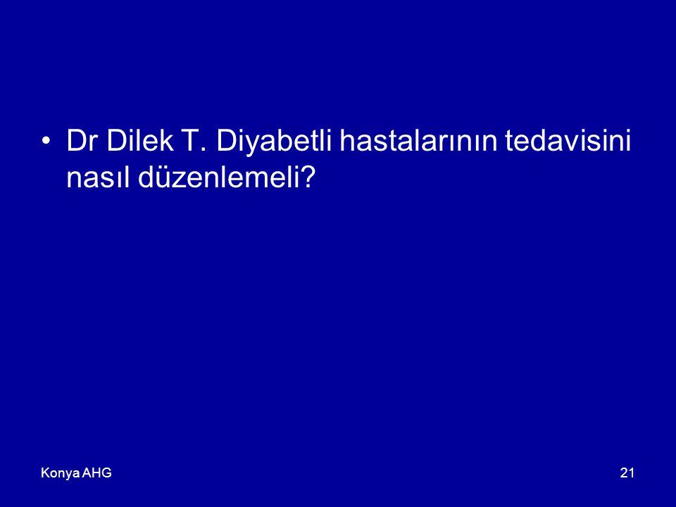 Konya AHG21 Dr Dilek T. Diyabetli hastalarının tedavisini nasıl düzenlemeli?