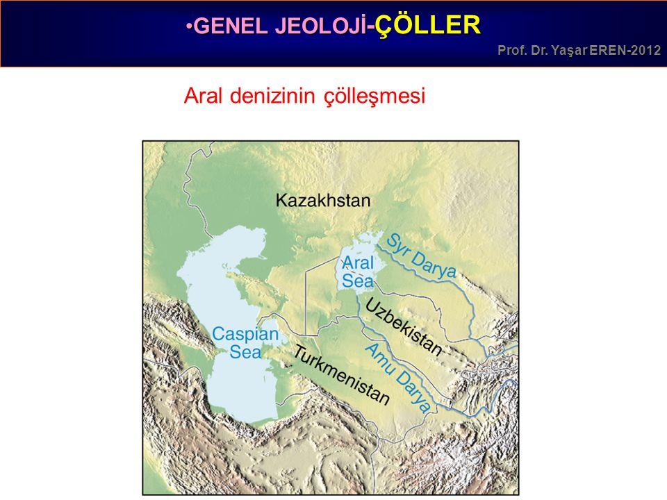 GENEL JEOLOJİ -ÇÖLLERGENEL JEOLOJİ -ÇÖLLER Prof. Dr. Yaşar EREN-2012 Aral denizinin çölleşmesi