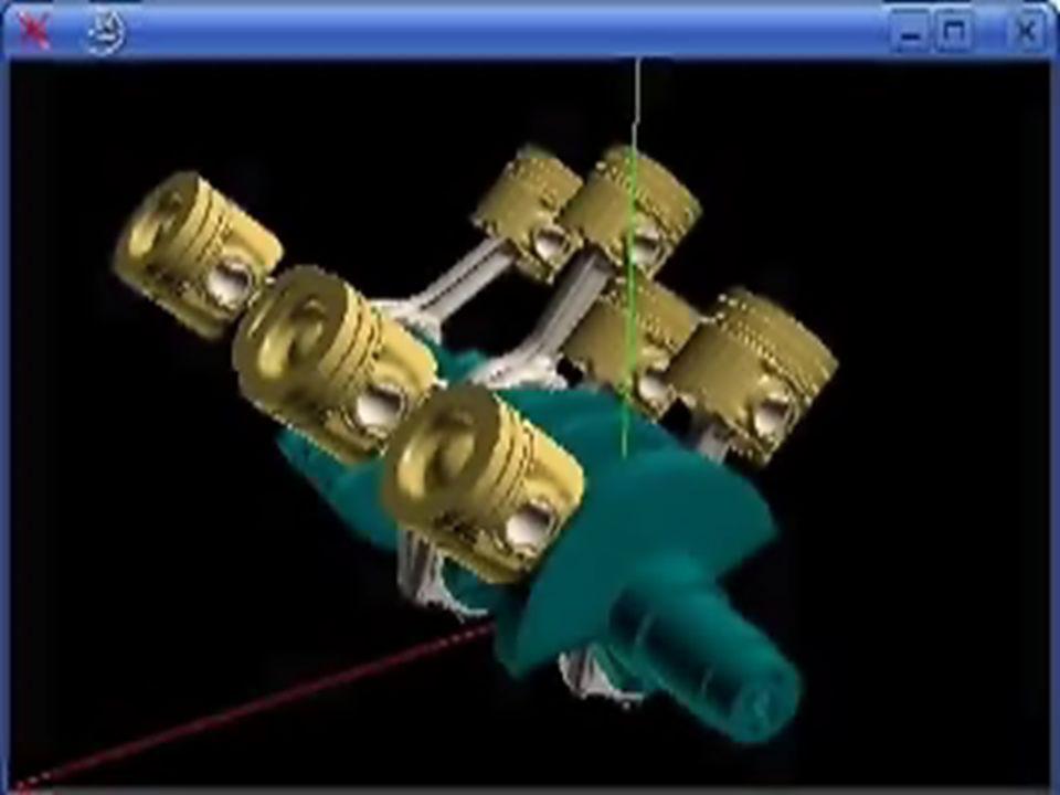 Gaz Kuvvetleri Piston üzerine üstten çalışma maddesinin basıncı alttan ise karter basıncı etki eder.