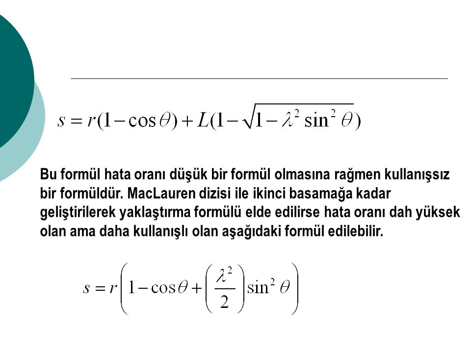 Bu formülün birinci dereceden türevinin alınmasıyla piston hızı bulunur.