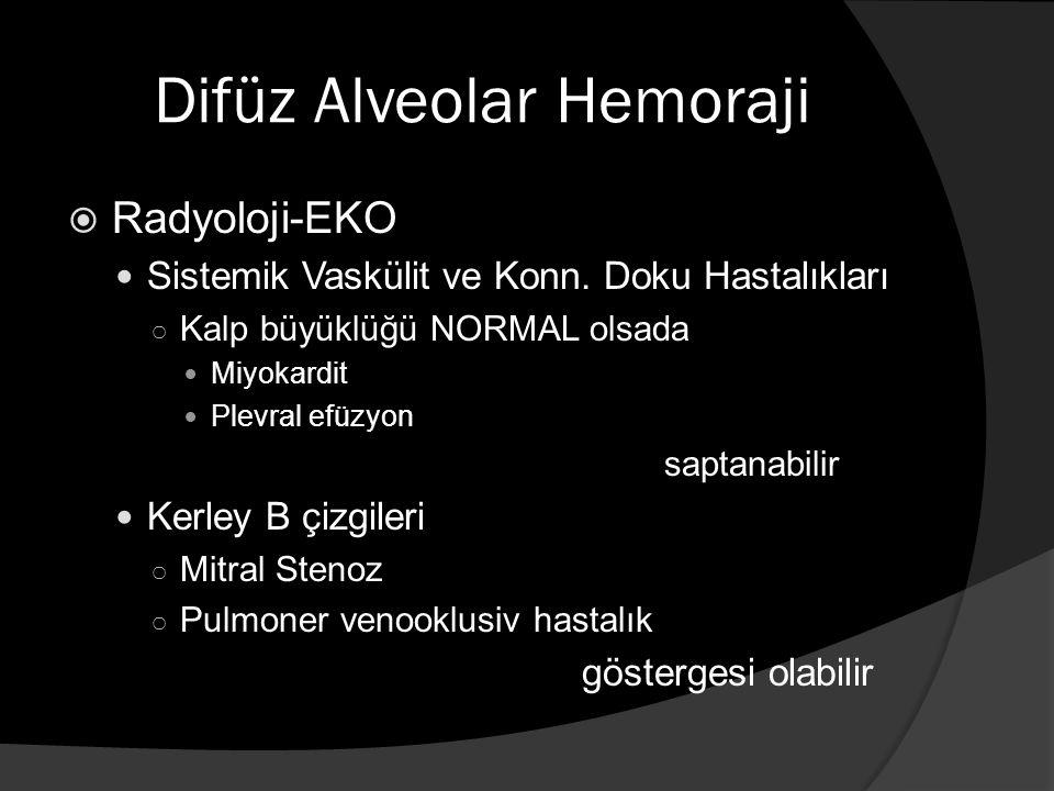 Difüz Alveolar Hemoraji  Radyoloji-EKO Sistemik Vaskülit ve Konn.