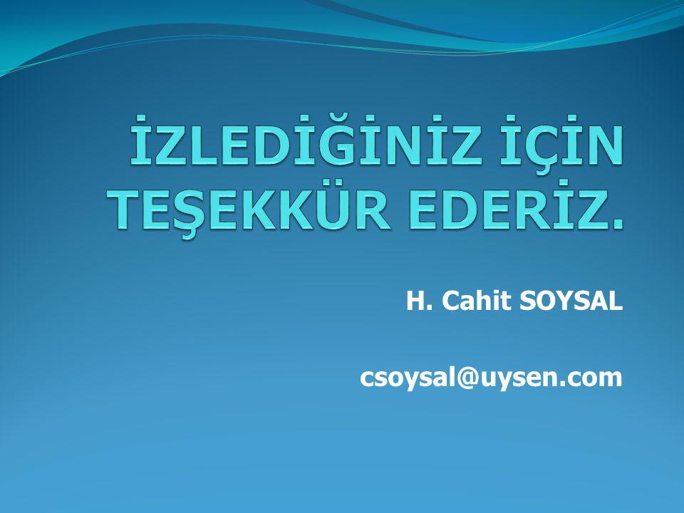 H. Cahit SOYSAL csoysal@uysen.com