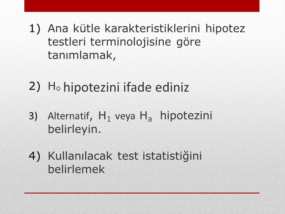 Hipotez Testi Uygulamasında 7 Adım