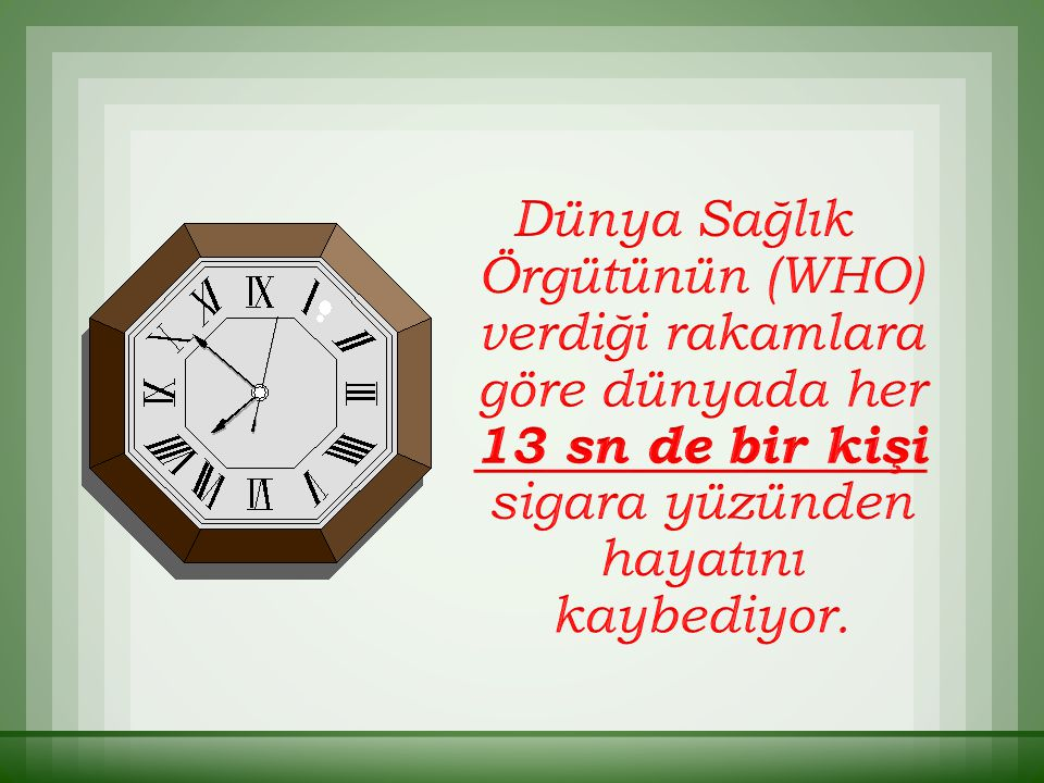  Türkiye'de 1984 sonrası dönemde tüketimi % 80 oranında artmıştır.
