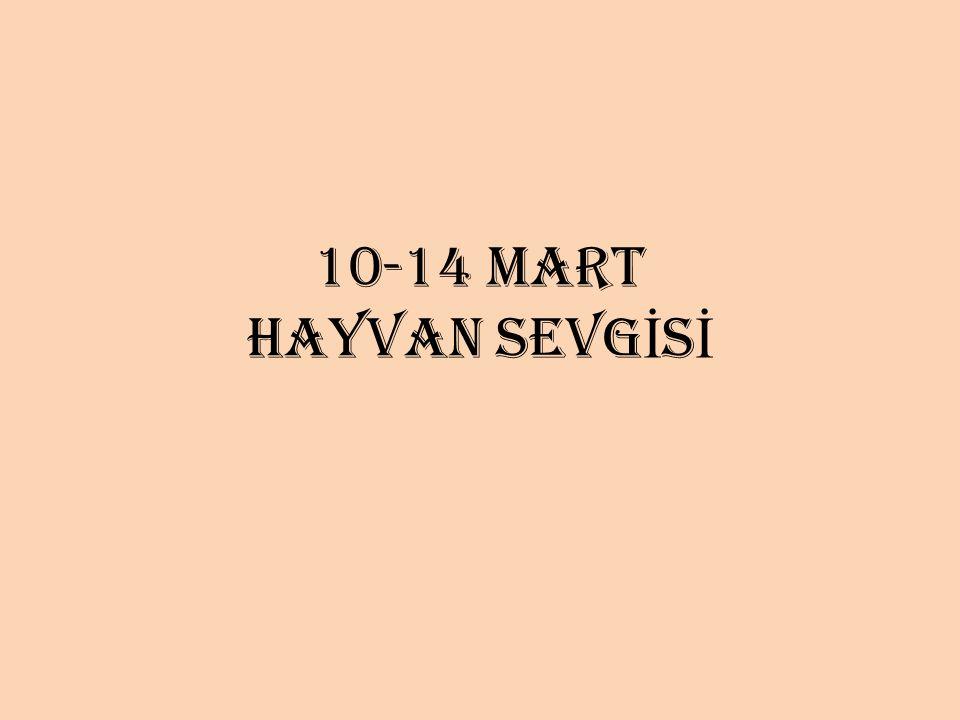 10-14 MART HAYVAN SEVG İ S İ