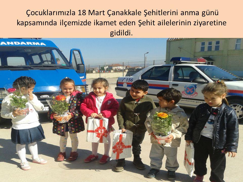 Çocuklarımızla 18 Mart Çanakkale Şehitlerini anma günü kapsamında ilçemizde ikamet eden Şehit ailelerinin ziyaretine gidildi.