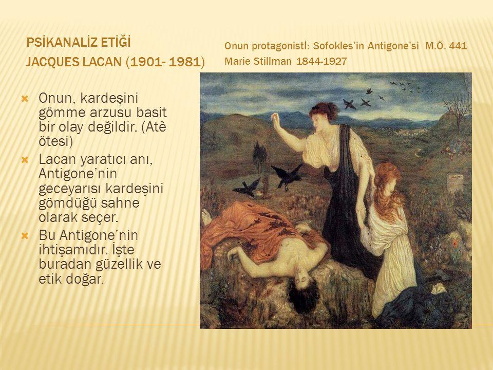 PSİKANALİZ ETİĞİ JACQUES LACAN (1901- 1981) Onun protagonistİ: Sofokles'in Antigone'si M.Ö.