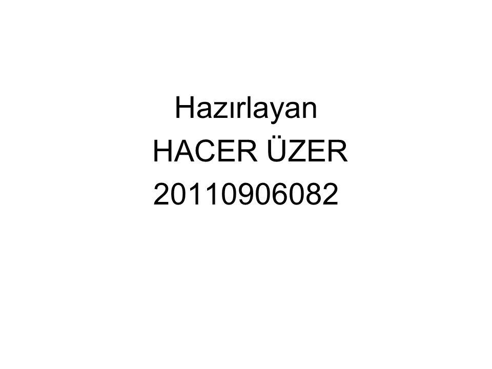 Hazırlayan HACER ÜZER 20110906082