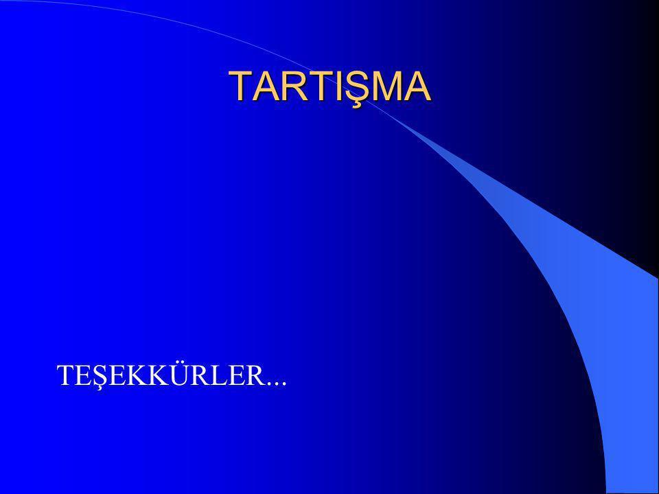 TARTIŞMA TEŞEKKÜRLER...