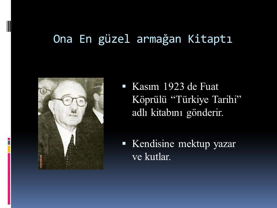 Kitaplar Ismarlardı  1923 de Yahya Kemal'den;  Monteskiyo'nun üç kitabı ile J.J.Ruso'nun Dağda yazılmış Mektuplar ve Yalnız Başına Gezinen bir Adamın Tahayyülleri adlı iki kitabı istenmiştir.