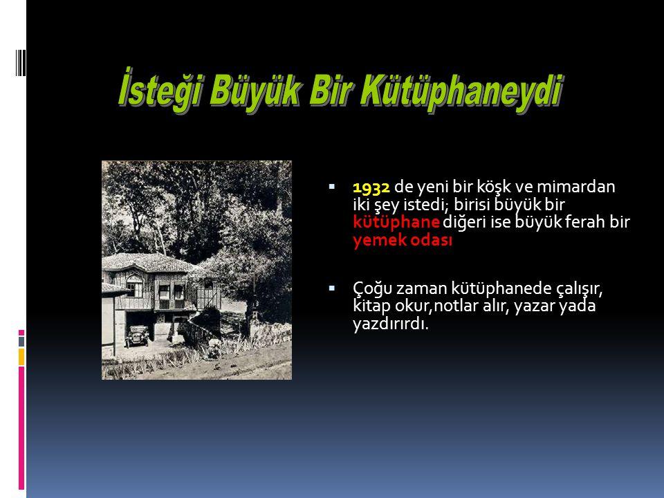 Kütüphane Olarak Düzenlenmesini İstedi  1924 de Mıntıka Palas Otelinin Kütüphane olarak düzenlenmesini istedi.