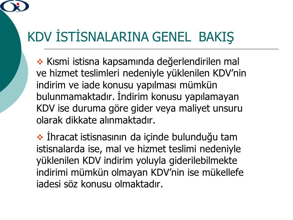 TECİL-TERKİN İŞLEMLERİNDE ÖZELLİKLİ DURUMLAR 4.